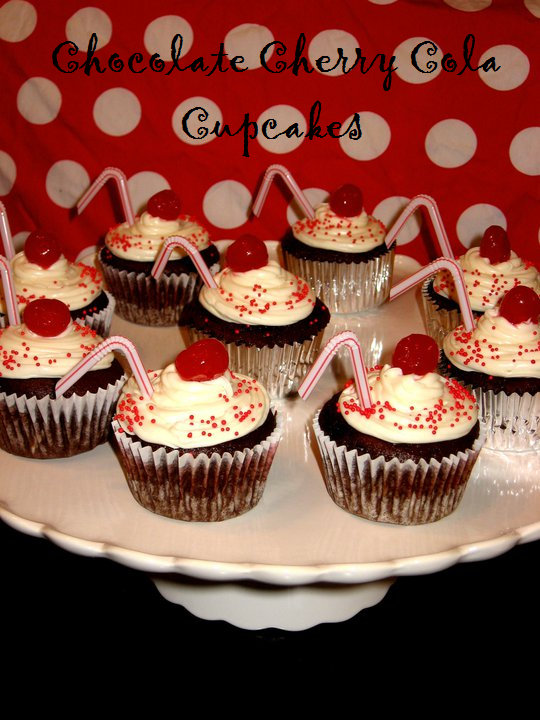 Chocolate Cherry Cola Cupcakes | The Domestic Rebel