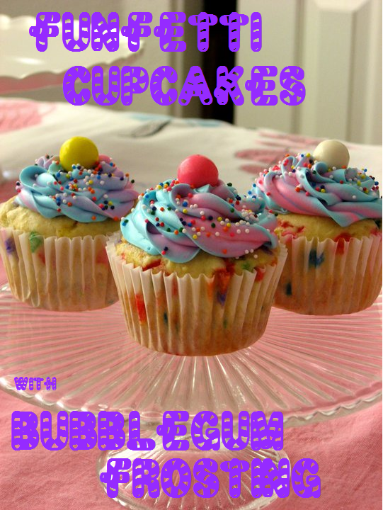 Funfetti Cupcakes With Bubblegum Frosting The Domestic Rebel