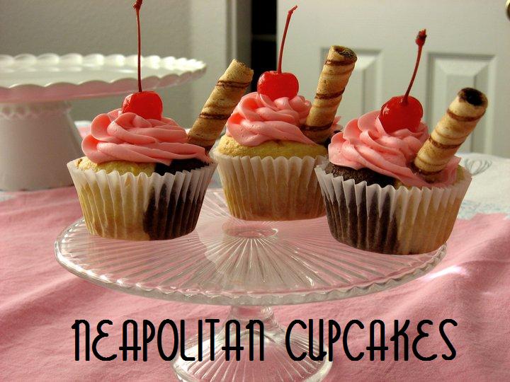Neapolitan Cupcakes | The Domestic Rebel