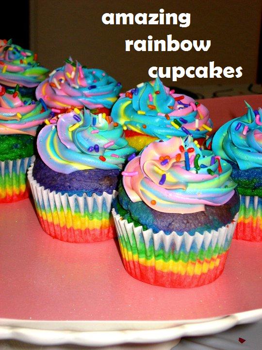 Amazing Cupcake Ideas amazing rainbow...