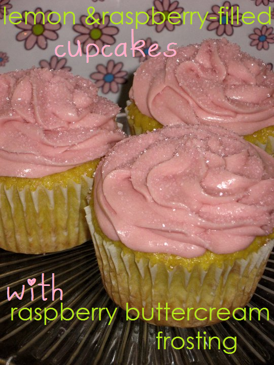 Lemon & Raspberry-Filled Cupcakes With Raspberry Buttercream | The ...