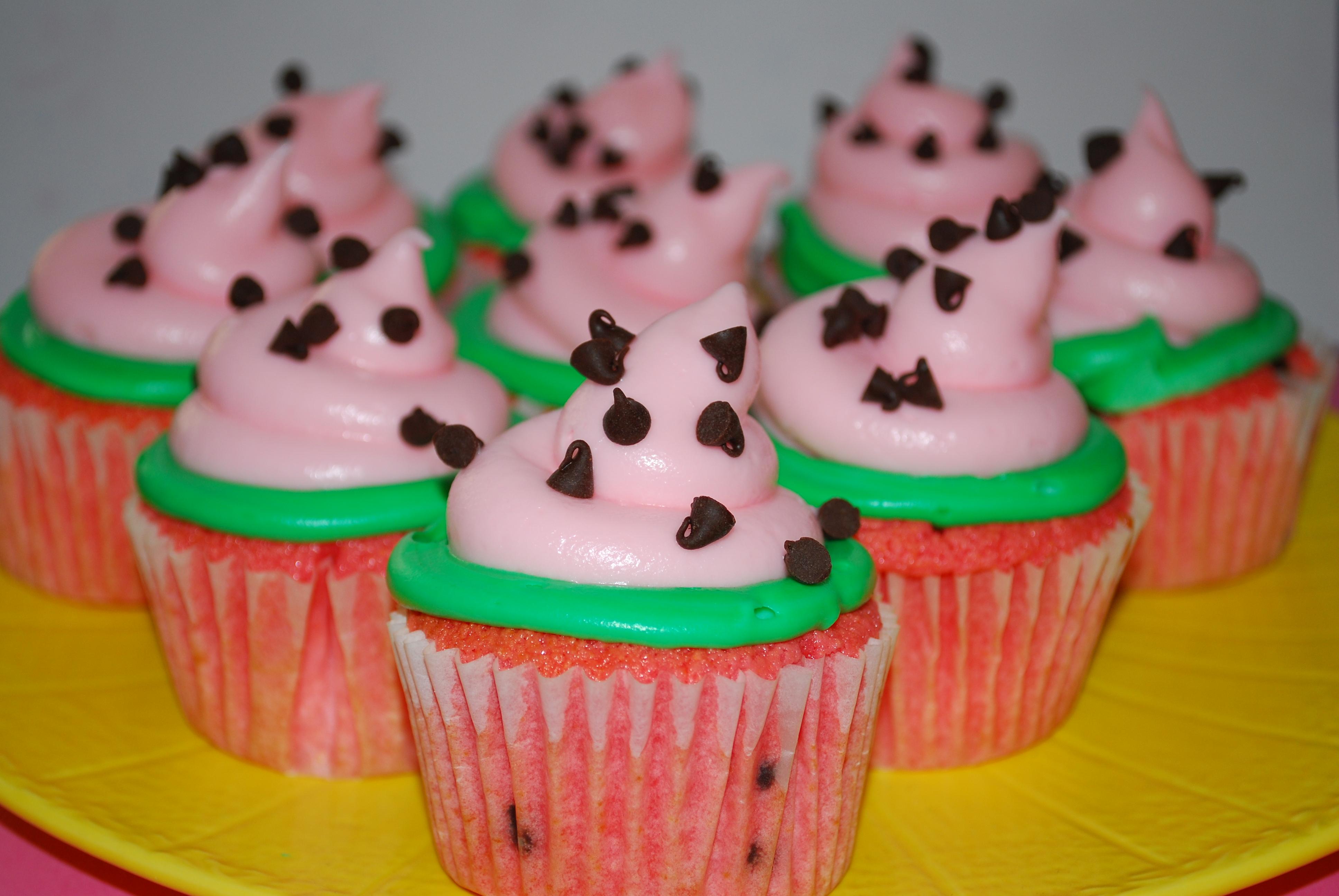 Watermelon Cupcakes | The Domestic Rebel