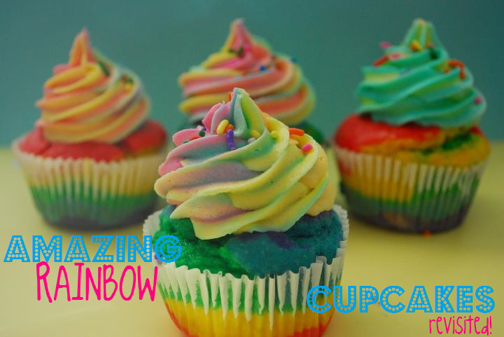 Amazing Rainbow Cupcakes The Domestic Rebel