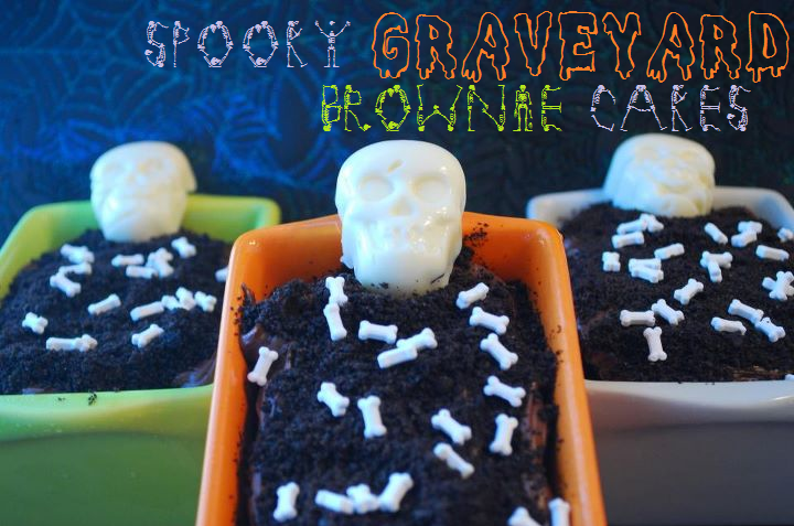 Spooky Graveyard Brownie Cakes–AND A VIDEO! | The Domestic Rebel