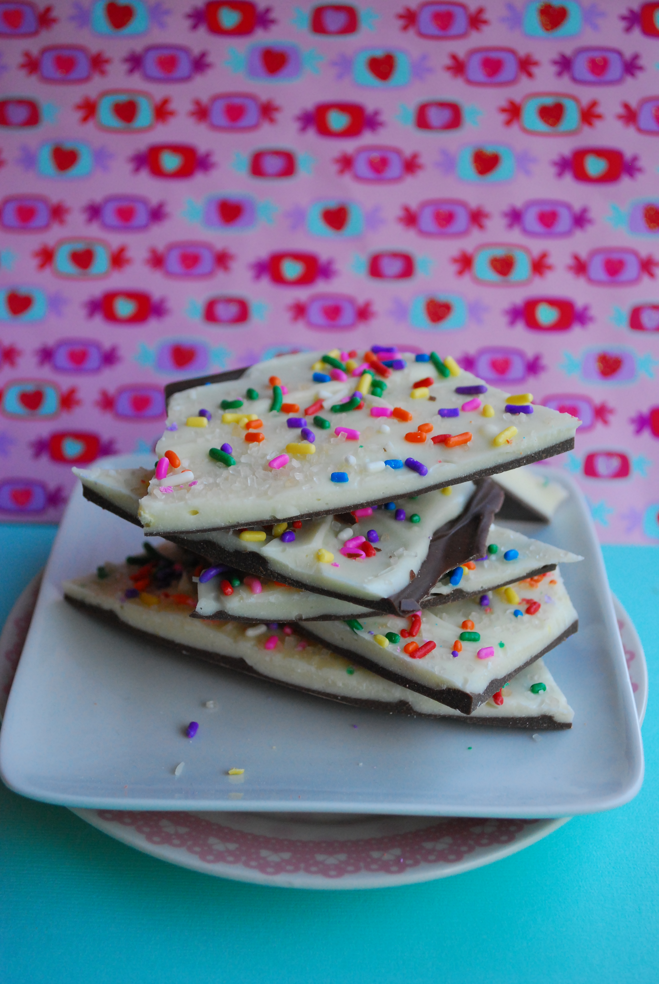 Birthday Cake Bark Adapted From Jessicas Batter Chocolate On How Sweet It Is