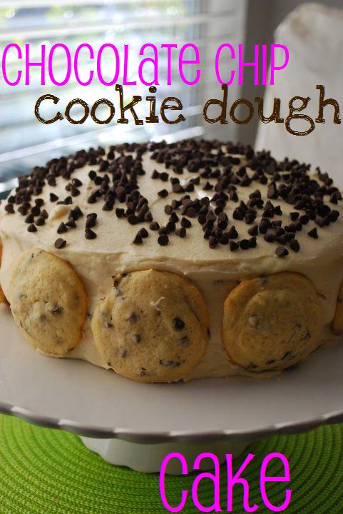Eggless chocolate chip cookie cake recipe