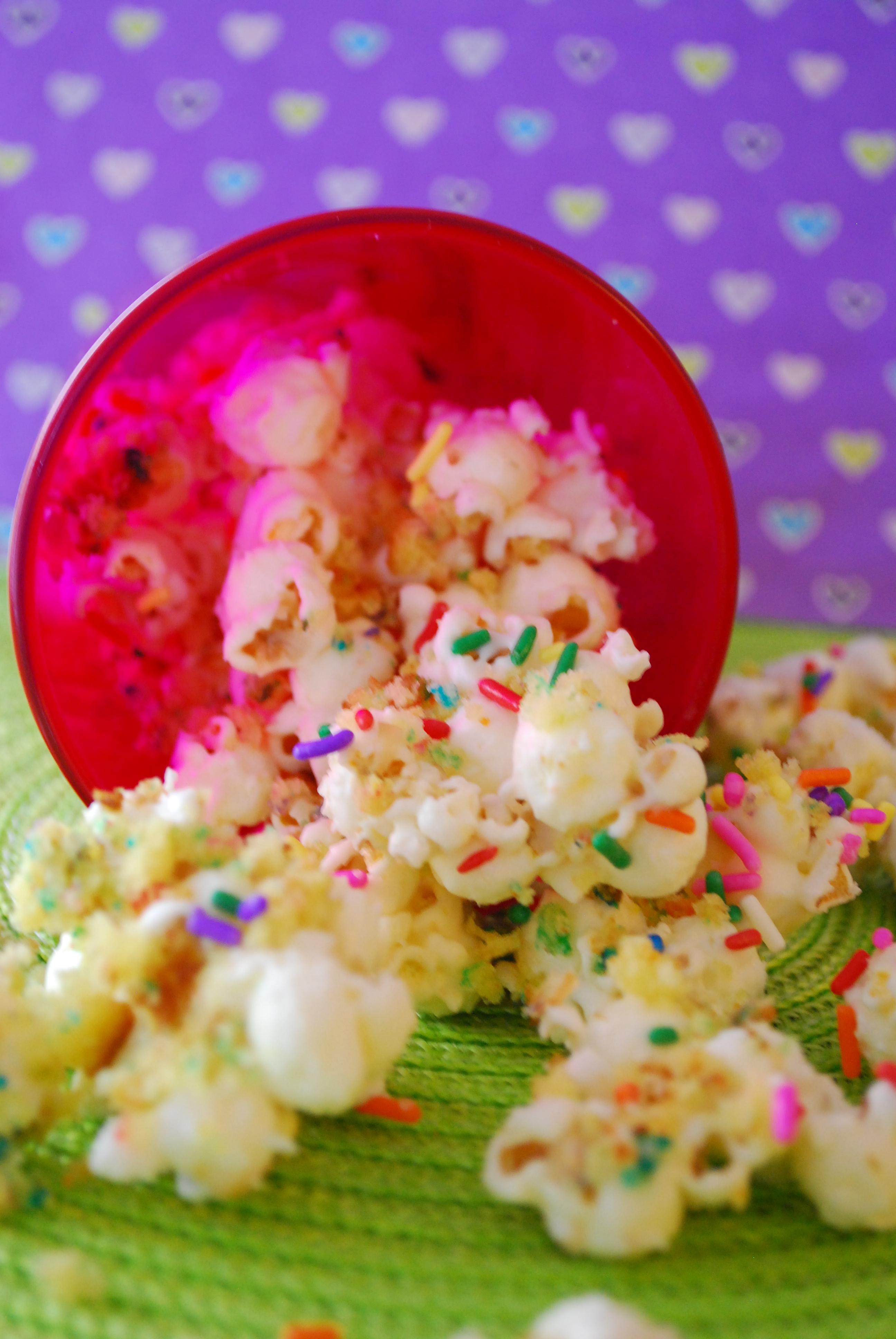 Birthday Cake Popcorn Inspired By Shellys Red Velvet Recipe Link Above
