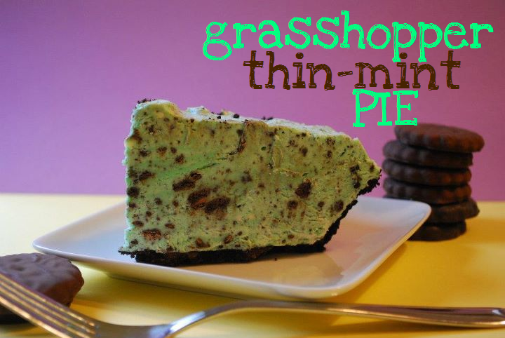 Grasshopper Thin Mint Pie [Pi Day Blog Hop] | The Domestic ...