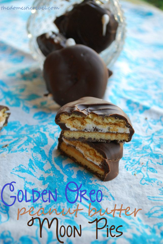Golden Oreo Peanut Butter Moon Pies The Domestic Rebel